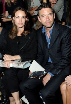 Claire Forlani and Dougray Scott Dougray Scott, Claire Forlani, Out Of This World, Celebrity Couples, Wow Products, Front Row, Chemistry, It Cast, Vogue