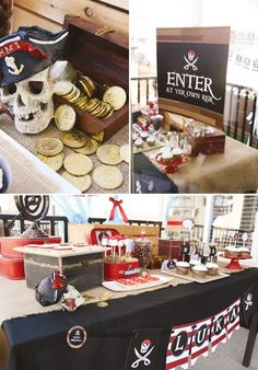 {Red & White Striped} Pirate Party Ideas // Hostess with the Mostess®