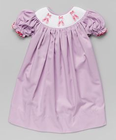 Take a look at this Marjorie's Daughter Lavender Ballet Molly Bishop Dress - Infant, Toddler & Girls on zulily today!
