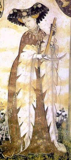 #10 Late middle ages women's wear Houpellandes