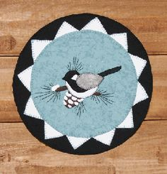 The First Snow - Chickadee Wool Penny Mat www.cottontales.net