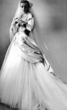 Dior Wedding Gown, 1949 #wedding #vintage #weddingdresses