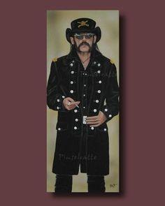Ian Lemmy Kilmister / Motörhead / Acryl Bild, Gemälde, Painting, Porträt, Unikat
