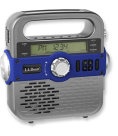 This would be great to have on our outings or even during an emergency during a power outage at home- the NOAA Weather Alert feature can be set to turn the radio on automatically when an alert is broadcasted....    Solar Emergency Weather Radio: Radios | Free Shipping at L.L.Bean