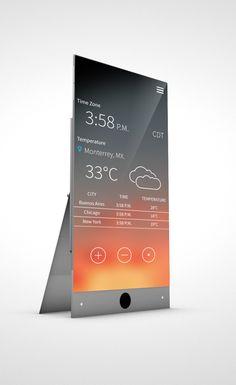 Weather Concept App by Rodrigo Alberto Cavazos, via Behance