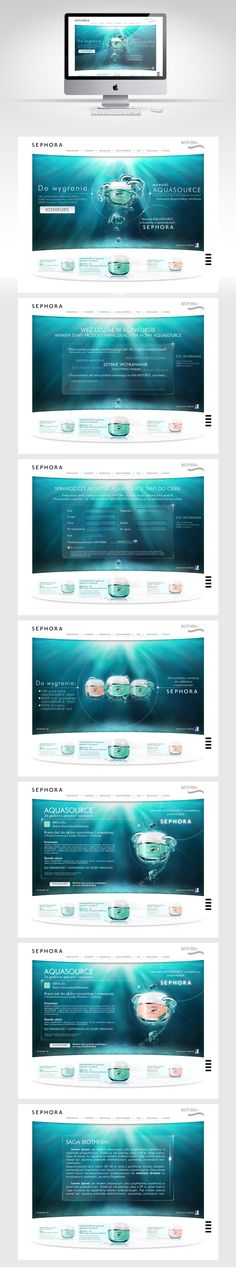 www Biotherm by Rafał Pawłowski, via Behance