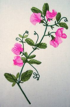 Dream Embroidery, flower, Iron on Patches, Embroidery Machine Inspiration Pink Butterfly, Butterflies, Embroidery Designs, Embroidery 3d, Pink Carnations, Purple Fabric, Day Lilies, Real Flowers, Iron On Patches