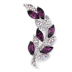 Pugster Elegant Purple Clear Crystal Flower Spica Brooches And Pins Pugster, http://www.amazon.com/dp/B009P0DSS2/ref=cm_sw_r_pi_dp_4j0-qb1M2K44P