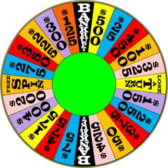 1000 images about wheel of fortune party on pinterest for Wheel of fortune board template