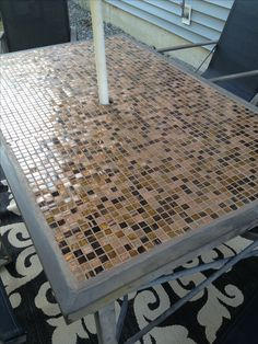DIY: Replace glass tabletop with tile for under $15!   An, Glasses ...
