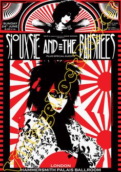 Special offer - 663 - SIOUXSIE & the BANSHEES - London, Uk 24 June 1984 - artistic concert poster size Medium Large 20 x 28' Rock Posters, Concert Posters, Siouxsie & The Banshees, Siouxsie Sioux, Goth Music, Vintage Music Posters, Music Flyer, New Wave, Music Artwork