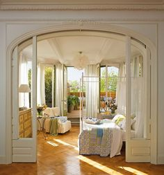 Now those are some pocket doors.