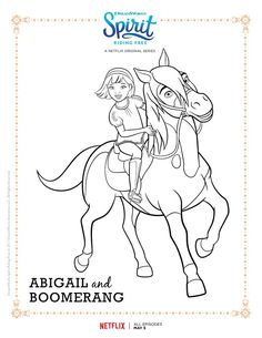 Click Here To Download The Netflix Spirit Riding Free Coloring Page