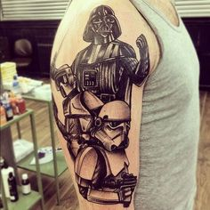 black and white star wars tattoos - Google Search | New Tattoo ...