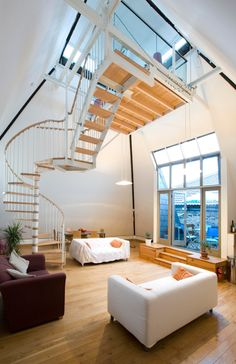 Listed malt house converted into new contemporary apartments.