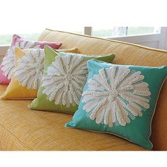 Aspen Pillow - Choice of Color from PoshTots  #companyc #pillow #décor #throw #embroidered #aspen