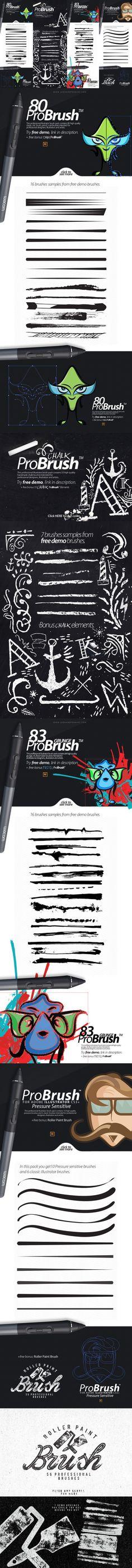 """329 BRUSHES - ProBrushâ""""¢ BUNDLE. Photoshop Brushes. $16.00"""