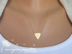 SALE++Custom+Initial+Small+Brass+Triangle+by+morganprather+on+Etsy,+$25.00
