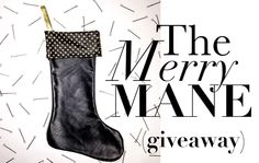 Another MANE ADDICTS GIVEAWAY! Win this luxe gold studded leather stocking filled to the brim with hair products and accessories!  #maneaddictsxmas Find out how to enter on the site: http://maneaddicts.com/2014/12/06/merrymanegiveaway/