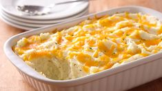 Two-Cheese And Rosemary Mashed Potato Casserole Recipe - (bettycrocker)