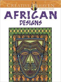 African coloring books featuring wildlife, scenery, masks and art from the continent as well as coloring books depicting African Americans.