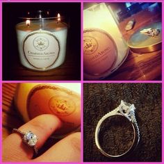 A sample ring you can win from candles at Charmed Aroma ...