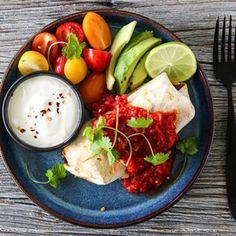 ELTEFRITT FIRKORNSBRØD MED RUG | TRINES MATBLOGG Parmesan, Frisk, Biscotti, Tacos, Meat, Chicken, Ethnic Recipes, Spinach, Red Peppers
