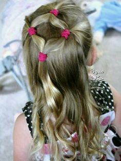 20 cute hairstyles trends for … - New Hair Girly Hairstyles, Princess Hairstyles, Little Girl Hairstyles, Hairstyles For School, Braided Hairstyles, Hairdos, Hairstyles 2018, Latest Hairstyles, Girl Hair Dos