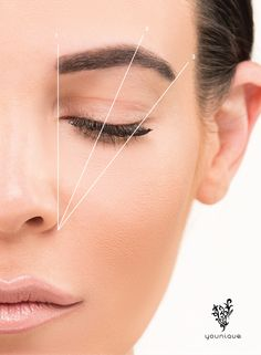 Brow Tutorial: Step 1: Align the inner corner of your brow with the outer edge of your nose Step 2: Line up your arch with the center of your eyelid Step 3: Align the outer edge of your nose with the outer corner of your eye; end your brow here