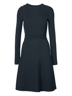 button front ribbed sweater dress - banana republic