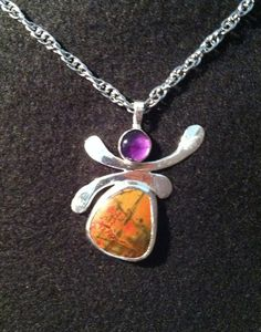 Sterling Silver Pendant with Chain Amethyst and by VanWoman, $235.00