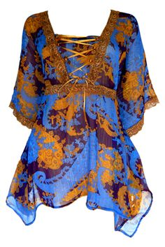 Summer Breeze in Royal - Plus Size Clothing Canada $54.95