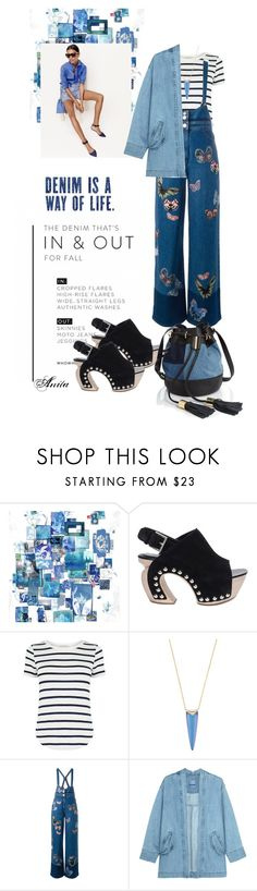 """""""Denim is a way of life"""" by wodecai ❤ liked on Polyvore featuring J.Crew, Alexander McQueen, Oasis, Alexis Bittar, Valentino, Steve J & Yoni P and See by Chloé"""