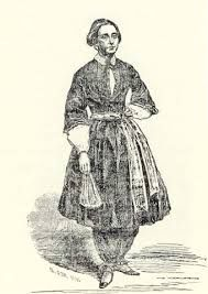 Bloomers were pants gathered at the bottom for women. Women from the feminist movement wore bloomers
