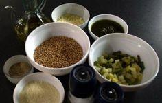 Ricetta    Farro con pesto http://la.repubblica.it/cucina/ricetta/farro-con-pesto/30060/