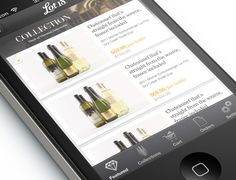Category page on Lot18 Mobile by Catherine Lo, via Behance  #app #ui