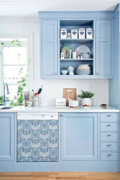 Blue and Green Kitchen Decor . 24 Fresh Blue and Green Kitchen Decor . Add Splash Of Color with Blue and Green Decor Green Kitchen Decor, Kitchen Redo, Kitchen Colors, Home Decor Kitchen, Kitchen Interior, New Kitchen, Kitchen Remodel, Kitchen Cabinets, Kitchen Ideas