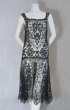 pepitka: 1920s clothing at Vintage Textile: #2246 lace flapper dresss