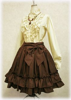 Co-ord from Flasco Blog Skirt- Victorian Maiden Blouse- Excentrique Necklace- Schwartz Shmetter