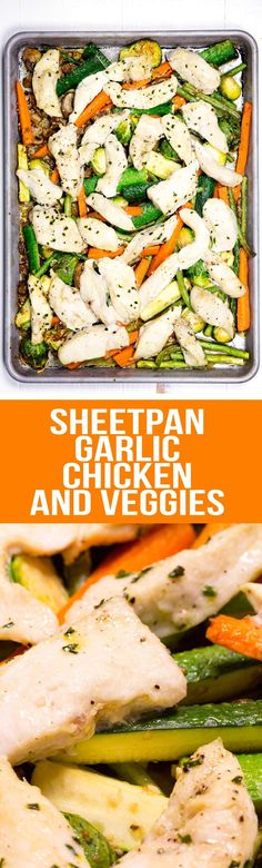 Sheet pan Garlic Chicken & Veggies via @Rachael Yerkes