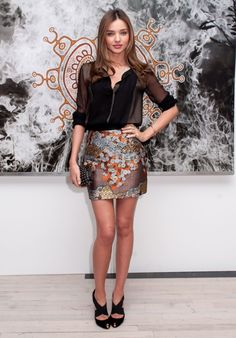 Miranda Kerr: That skirt. That blouse. Those heels. I am coveting every piece.