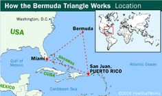 Bermuda triangle  For over forty years, the Bermuda Triangle has been popularly known for supposedly paranormal disappearances of boats and aircraft. This imaginary triangle, also known as Devils Triangle, has its three points at Miami, Puerto Rico, and Bermuda. Actually, despite several factors which should contribute to higher rates of accidents in the region, the Bermuda Triangle has been found to be no more statistically dangerous than other areas of the open ocean. The popular legend of…