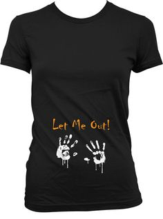 Let Me Out Shirt Pregnancy Reveal Shirt Halloween by JackPotTees