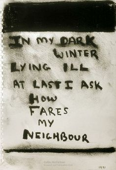 In my dark winter, 1971 - Colin McCahon