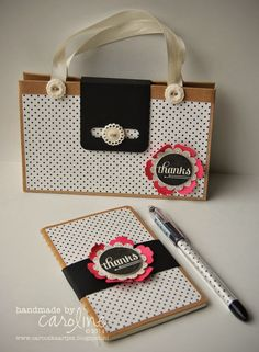 Little purse with matching notebook and pen Stampin' Up!