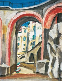 Ernest Zmeták: Most v Bratislava, Primates, Facade, Milan, Modern Art, Artists, Graphic Design, Watercolor, Illustration