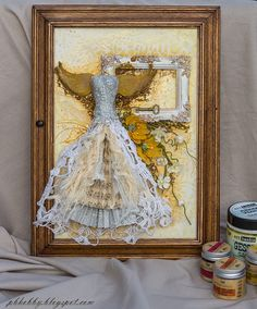 Mixed Media Place: Keeper of keys - a beautiful key box altered by Pascale