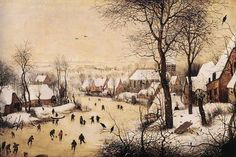Winter Landscape with Skaters and Bird Trap, Pieter the Elder Bruegel