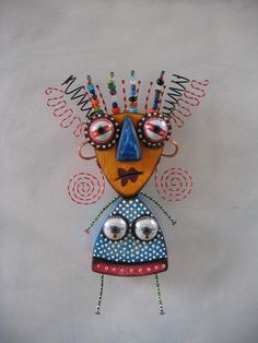 CraZy Lady Original Found Object Sculpture Wall by FigJamStudio, $85.00