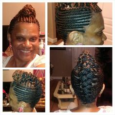 Cornrow and senegalese twisted updo $65 (hair included)